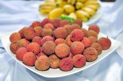 Fruta del lichí Imagen de archivo libre de regalías