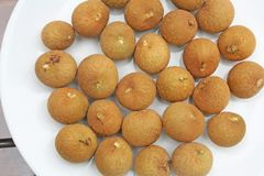 Fruta del longan de la visión superior foto de archivo