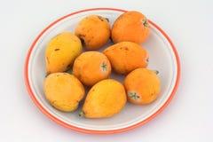 Fruta del Loquat Foto de archivo