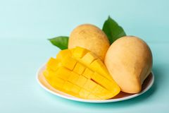 Fruta del mango de la rebanada, fruta tailandesa foto de archivo