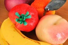 Fruta del marzapane Imagen de archivo libre de regalías
