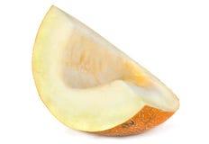 Fruta del melón en blanco Imágenes de archivo libres de regalías