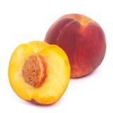 Fruta del melocotón aislada Fotos de archivo libres de regalías