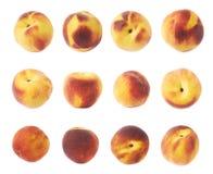 Fruta del melocotón aislada Imagen de archivo
