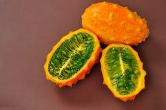 Fruta del paraiso abierto Imagen de archivo