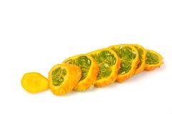 Fruta del paraiso découpé en tranches Photo stock