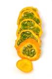 Fruta del paraiso rebanado Fotos de archivo libres de regalías
