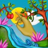Fruta del pecado stock de ilustración