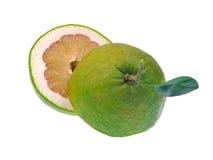 Fruta del pomelo aislada en el fondo blanco Fotografía de archivo libre de regalías