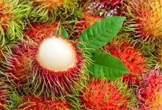 Fruta del Rambutan, Tailandia Fotografía de archivo