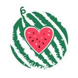 Fruta del verano de la sandía libre illustration