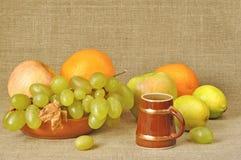 Fruta diferente, vino Fotos de archivo libres de regalías