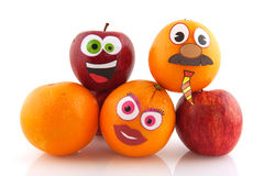 Fruta divertida Imágenes de archivo libres de regalías