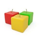 Fruta do grupo das maçãs isolada no branco Fotografia de Stock Royalty Free