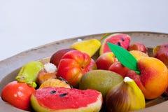 Fruta do marzapane Imagens de Stock Royalty Free
