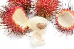 Fruta do Rambutan Imagem de Stock
