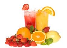 Fruta e suco fotografia de stock royalty free