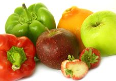 Fruta e veg fotografia de stock royalty free