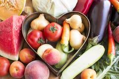 Fruta e verdura fresca Fotografia de Stock Royalty Free