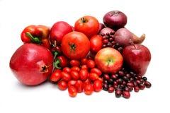 Fruta e verdura vermelha Fotografia de Stock Royalty Free