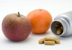 Fruta e vitaminas Foto de Stock