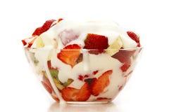 Fruta e yougurt imagem de stock