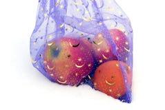Fruta em um saco comemorativo Fotos de Stock Royalty Free