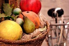 Fruta em uma cesta fotos de stock