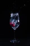 Fruta en un vidrio de agua imágenes de archivo libres de regalías