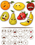 Fruta engraçada com expressão Fotos de Stock Royalty Free