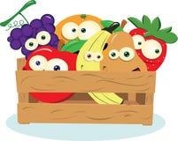 Fruta engraçada em uma caixa Foto de Stock Royalty Free