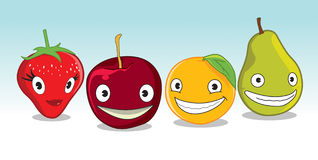 Fruta feliz Imagens de Stock Royalty Free