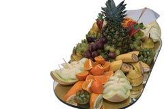 Fruta fijada en una bandeja Foto de archivo