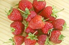 Fruta fresca de la fresa Fotos de archivo