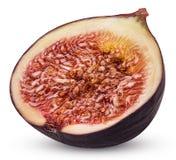 Fruta fresca de los higos cortada por la mitad Fotografía de archivo libre de regalías