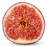 Fruta fresca de los higos cortada por la mitad Imágenes de archivo libres de regalías