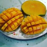 Fruta fresca del mango imagenes de archivo