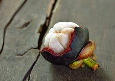 Fruta fresca del mangostán Foto de archivo