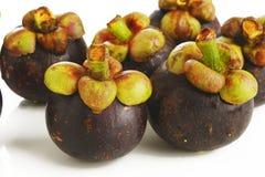Fruta fresca del mangostán Imagenes de archivo