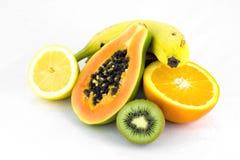 Fruta fresca en blanco Imagen de archivo libre de regalías