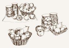 Fruta fresca y conservada Imagen de archivo