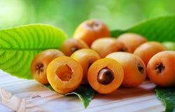 Fruta i del níspero del Loquat Imagen de archivo