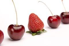 Fruta impar para fora imagem de stock