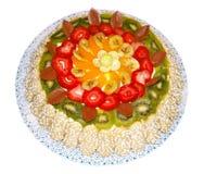 Fruta italiana de la torta de Savoiardi Imagen de archivo libre de regalías