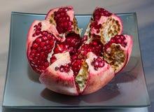 Fruta jugosa de la granada Imagen de archivo