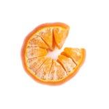 Fruta jugosa fresca de la mandarina aislada sobre Fotos de archivo libres de regalías