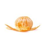 Fruta jugosa fresca de la mandarina aislada sobre Fotos de archivo