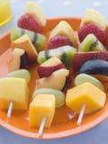 Fruta Kebabs Fotos de archivo libres de regalías