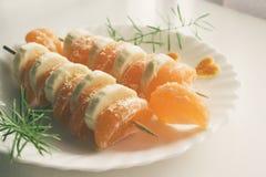 Fruta Kebabs imagen de archivo