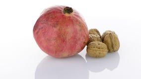 Fruta madura da romã vídeos de arquivo